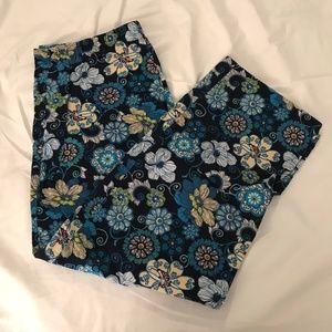 Vera Bradley PJ Pants, size: M, Mod Floral Blue